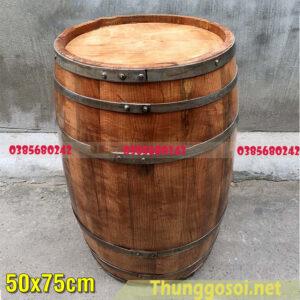 Bom gỗ sồi trưng bày 50x75cm