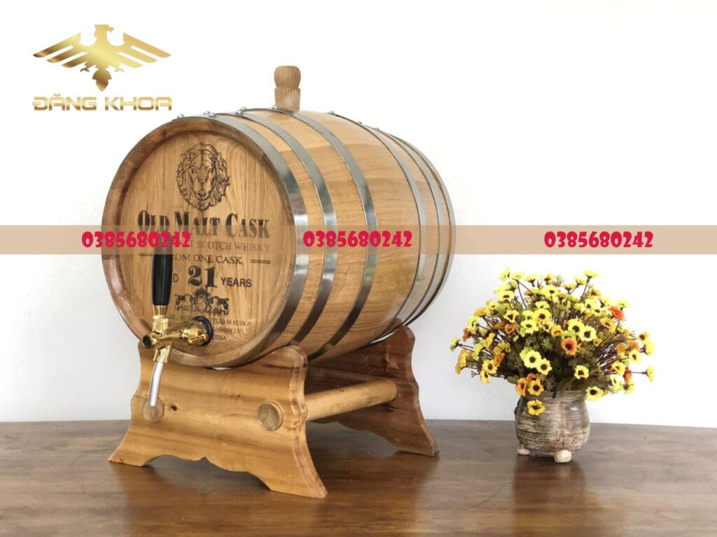 Thùng rượu gỗ sồi Nga 50L