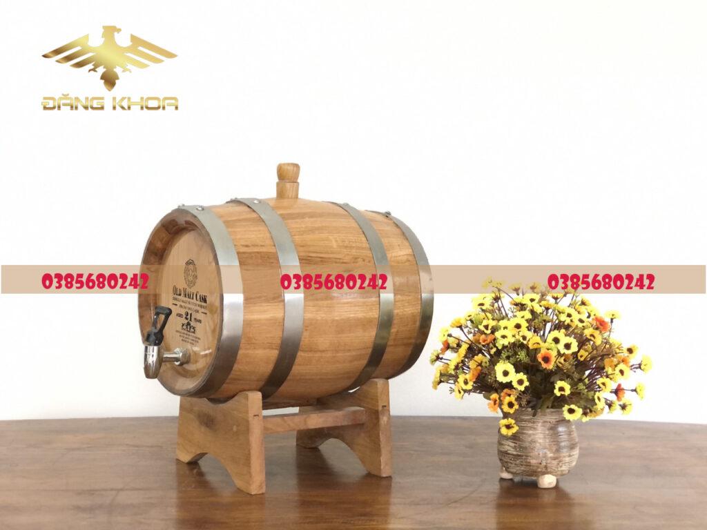 Thùng gỗ sồi 20l