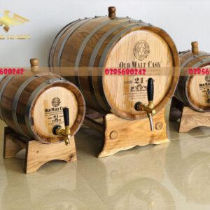 Thùng gỗ sồi đựng rượu dung tích 100L-500L