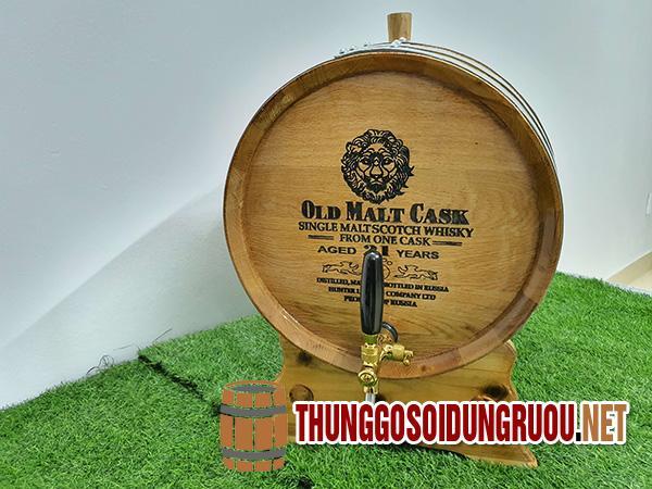 Bán thùng rượu gỗ sồi đẹp